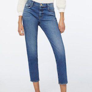 Frame Denim Le Garcon Distressed Crop Jeans 24